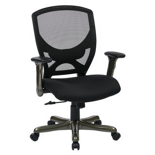 Woven Black Mesh Back Manager's Chair with Flip Arms