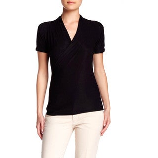 Von Ronen Women's Crossover Rayon Jersey Wrap Top (One Size Fits 0-12)