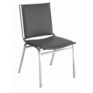 410 Armless Stacking Chair- Black Vinyl