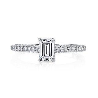 14k White Gold 1ct TDW Emerald-cut Diamond Engagement Ring (H-I, VS1-VS2)