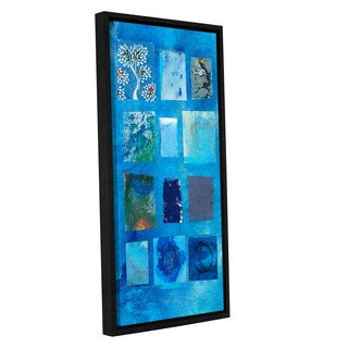ArtWall Elena Ray ' Blue Tree Collage ' Gallery-Wrapped Floater-Framed Canvas