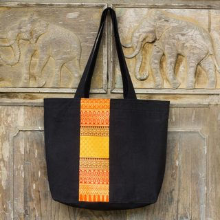 Cotton 'Lanna Summer' Tote Bag (Thailand)