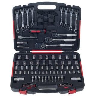 Stalwart 135 Piece Mechanics Garage Hand Tool Set in Storage Case