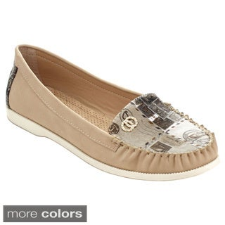 Machi CITILY-1 Women's Casual Slip On Printed Moccasin Flats