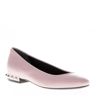 Balenciaga Women's Leather Studded Pink Flats