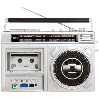QFX J-24U Retro Collection 4-Band Radio Cassette Recorder