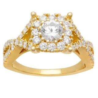 14k Rose Gold .85ct Diamond Infinity Ring