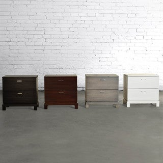 Daisy 2-Drawer Nightstand Solid Wood