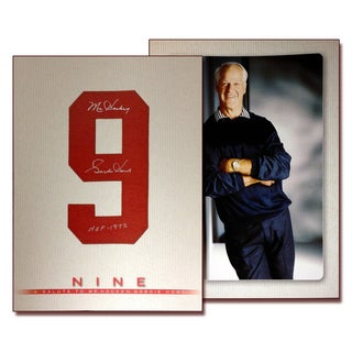NHL Detroit Red Wings Gordie Howe 'Nine' Autographed Book