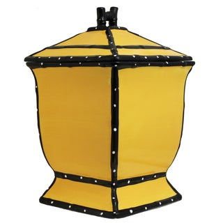 Country French Collection Hand-painted Yellow Cookie Jar