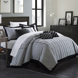 Chic Home Raynolds Pleated Pintuck Oversized and Overfilled 8-piece Comforter Set