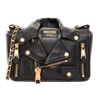 Moschino Biker Jacket Medium Shoulder Bag
