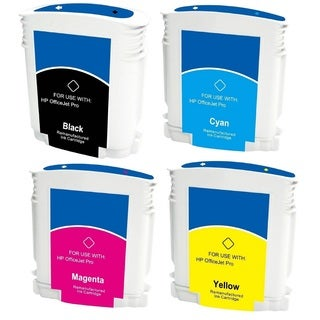 LED HP 88 88XL C9396AN C9391AN C9392AN C9393AN Black Cyan Magenta Yellow Ink Cartridge (Pack of 4)