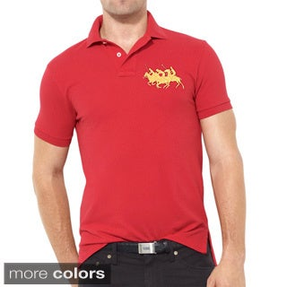 Ralph Lauren Men's Custom Fit Triple Pony Polo Shirt