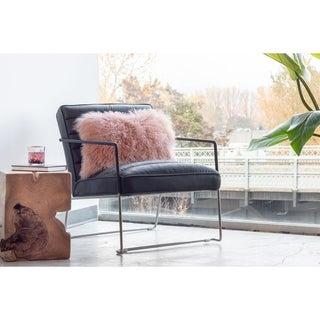 Aurelle Home Lamb Faux Fur Rectangular 16-inch Throw Pillow
