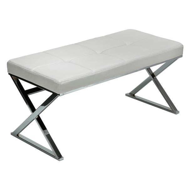 Overstock Foyer Bench : Zio contemporary white entryway bench overstock shopping