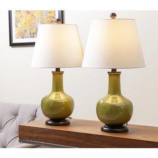 ABBYSON LIVING Lauren Sage Green Ceramic Table Lamp (Set of 2)