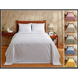 Natick Cotton Tufted Chenille Bedspread (Shams Sold Separately) by Better Trends