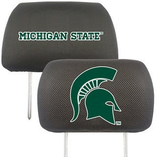 Fanmats Michigan State Spartans Collegiate Charcoal Head Rest Covers Set of 2