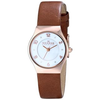 Skagen Women's SKW2210 'Grenen' Brown Leather Watch