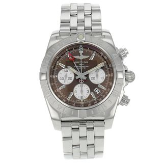 Breitling Men's AB042011-Q589 'Chronomat' Automatic Chronograph Silver Stainless steel Watch