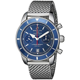 Breitling Men's A2337016-C856 'SuperOcean' Automatic Chronograph Silver Stainless steel Watch