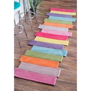 nuLOOM Handmade Kids Stripes Multi Runner Rug (2'6 x 6')