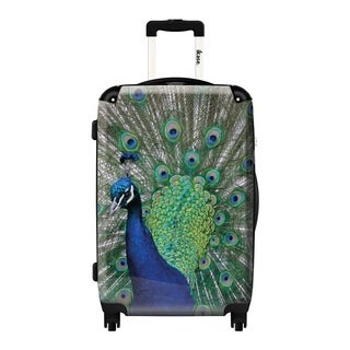 iKase Peacock 20-inch Hardside Carry On Spinner Upright Suitcase