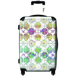 IKASE Circle Art 24-inch Hardside Spinner Upright Suitcase