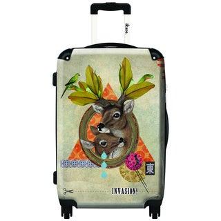 IKASE Oh Deer! 24-inch Hardside Spinner Upright Suitcase