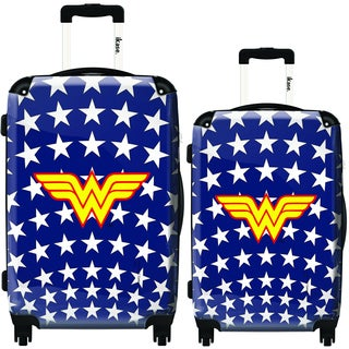 iKase Wonder Woman Stars 2-piece Hardside Spinner Luggage Set