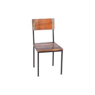 Timbergirl Old Reclaimed Wood and Metal chair - Set of 2