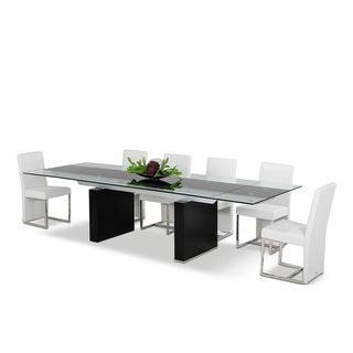 Modrest Lisbon Extendable Glass Dining Table