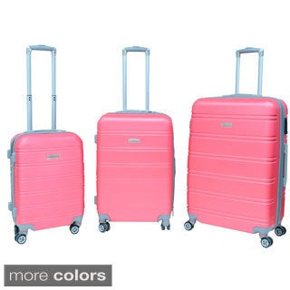 Mick Micheyl 3-piece Expandable Spinner Luggage Set