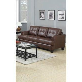 Lusene Contemporary Leather Sofa