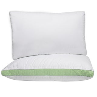 Hypo-Allergenic Firm Cotton Pillows with 2 Inch Quilted Gusset (Set of 2)