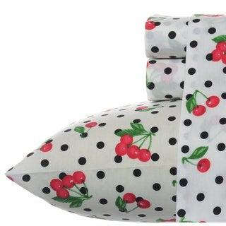 Betsey Johnson Cherry Red Sheet Set