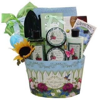 Gardener's Delight Green Tea Spa Bath and Body Gift Basket Set