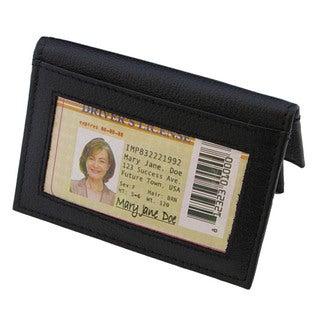 Continental Leather Front Pocket Card Holder Case