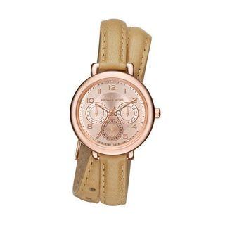 Michael Kors Women's MK2406 'Kohen' Chronograph Brown Leather Watch