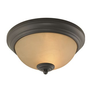 Cornerstone 11-inch Oil Rubbed Bronze Huntington 2-light Ceiling Lamp