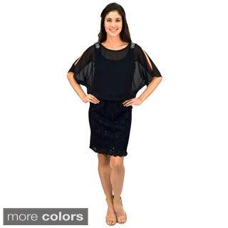 R&M Richards Lace Blousson Dress