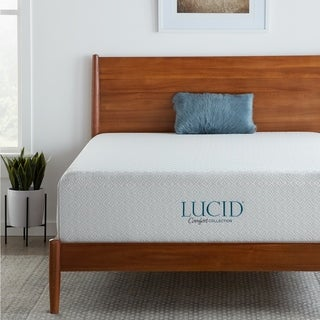 Lucid Rayon from Bamboo and Charcoal-Infused 14-inch Full-size Memory Foam Mattress