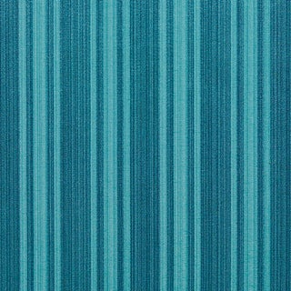 A0101K Turquoise Two Toned Stripe Metallic Sheen Upholstery Fabric (By The Yard)