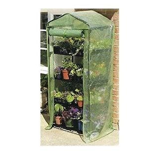 Happy Planter 4-tier Mini Portable 4-shelf Greenhouse with Cover