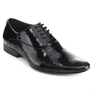 UV Signature UV004 Men Smooth Wing Tip Perforated Detailing Lace Up Dress Oxford