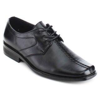 Miko Lotti Ml902 Men Stylish Square Toe Lace Up Stacked Heel Dress Oxford