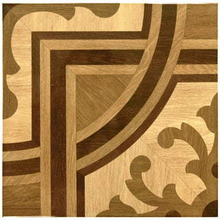 SomerTile 17x17-inch Piedmont Brown Glossy Ceramic Floor and Wall Tile (Case of 6)