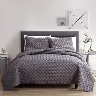 Nina Embossed 3-piece Quilt Set