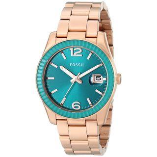 Fossil Women's ES3730 'Perfect Boyfriend' Rose-Tone Stainless Steel Watch